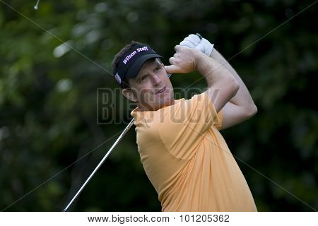 WENTWORTH, ENGLAND. 22 MAY 2009.Anthony WALL ENG  playing in the 2nd round of the European Tour BMW PGA Championship.