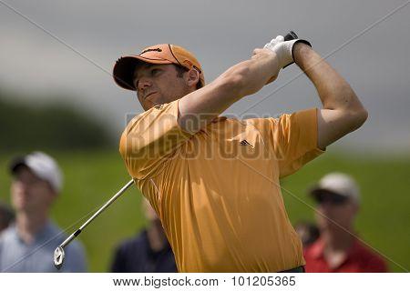 KENT ENGLAND, 27 MAY 2009. Sergio GARCIA (ESP) playing in the first round of the European Tour European Open golf tournament.