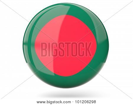 Round Icon With Flag Of Bangladesh