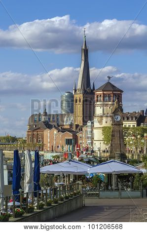 View Of Dusseldorf Historic Center, Germany