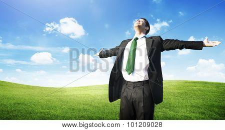 Businessman Freedom Relaxation Getaway Refreshment Concept