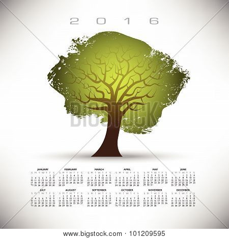 2016 Abstract tree calendar