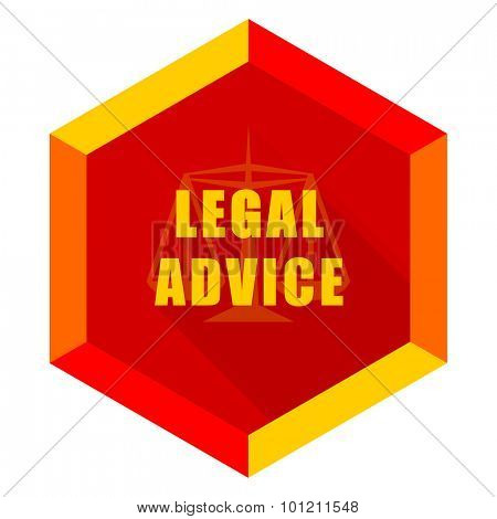 legal advice flat design modern icon with long shadow for web and mobile app