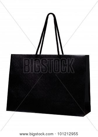 Black Shopping Bag Isolate On White Background.