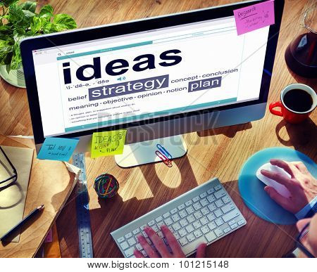 Digital Dictionary Ideas Strategy Plan Concept