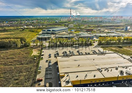 Group of car shops and railway node. Tyumen.Russia