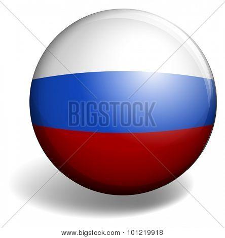 Netherland flag on round badge illustration