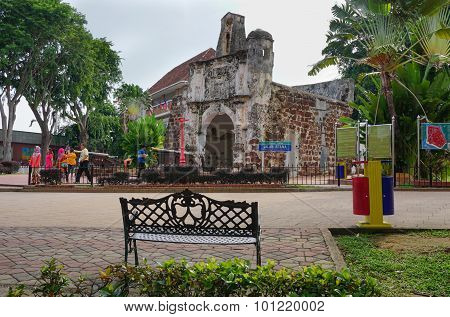 Porta De Santiago In Malacca