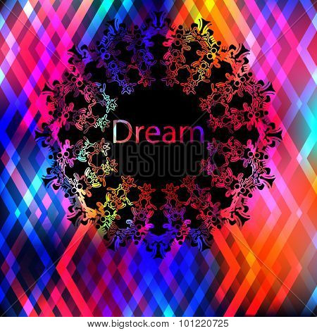 Background  with polygonal form.Beautiful celebration background with romantic colors.Aurora