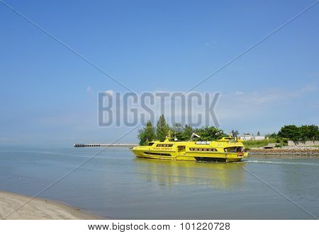 Ferry Pulau Angsa In Service In Penang