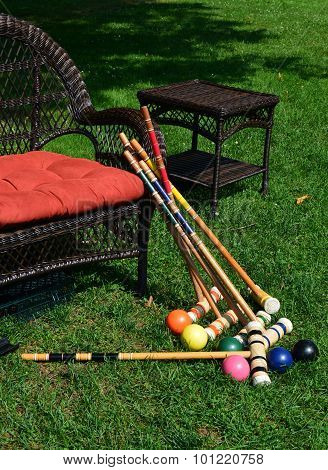 Croquet Equipment After Use