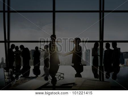 Businessmen Handshake Deal Business Commitment Concept