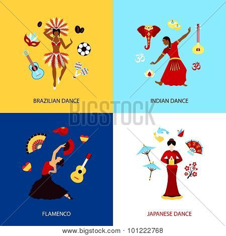 Woman Dancing Design Concept