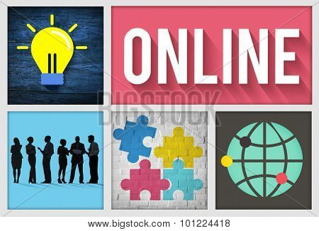 Online Social Networking Technology Connection Concept