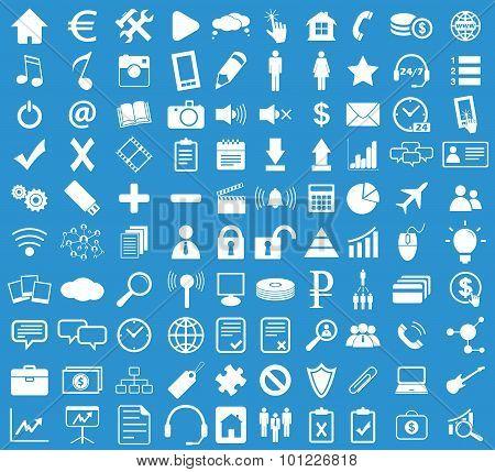 Webdesign icon set, blue