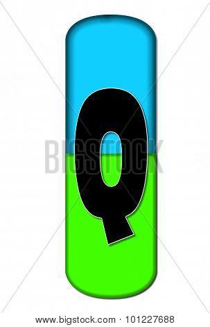 Alphabet Capsule Q