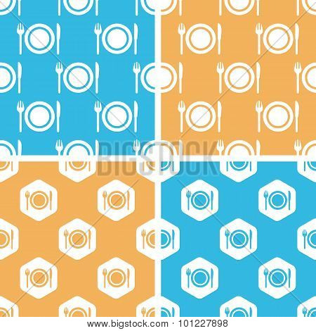 Dishware pattern set, colored
