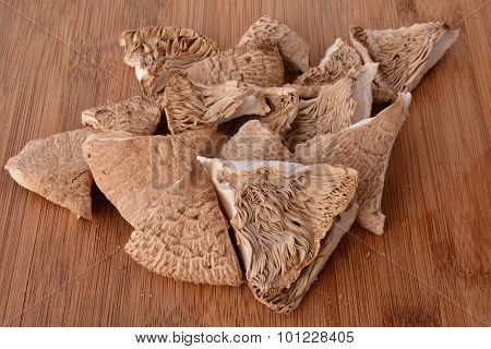Dried Pieces Of Parasol Mushroom