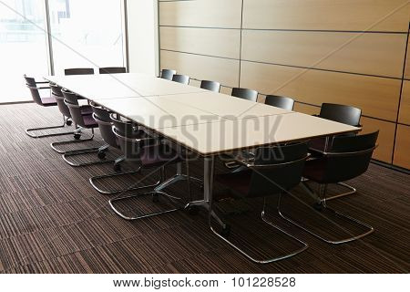 Business boardroom without people