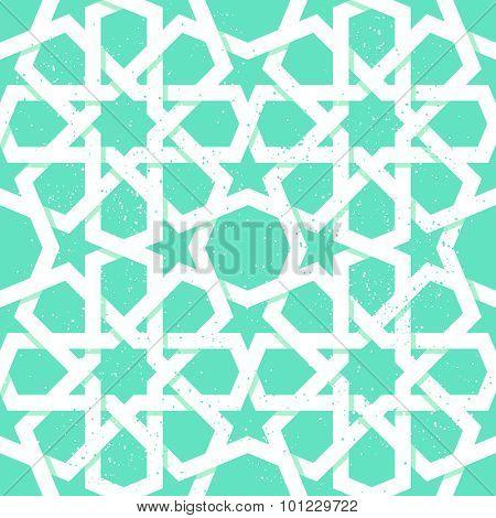 Arabic rosette geometric seamless pattern