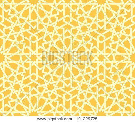 Arabic 12-fold rosette geometric seamless pattern