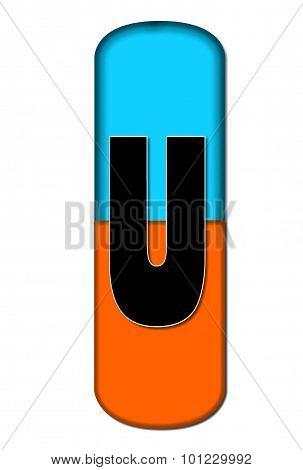 Alphabet Capsule U