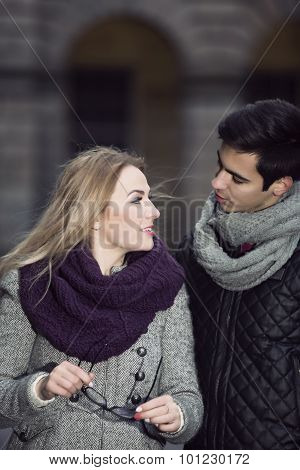 Attractive Young Couple In Love