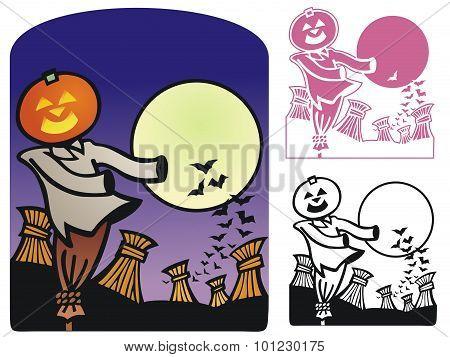 Autumn Scene For Halloween