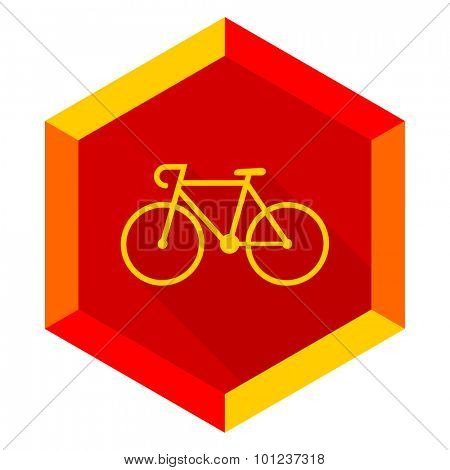 bicycle flat design modern icon with long shadow for web and mobile app