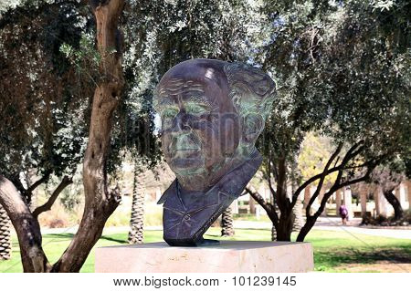 The Bust Of The Founder Of The State Of Israel, Ben Gurion