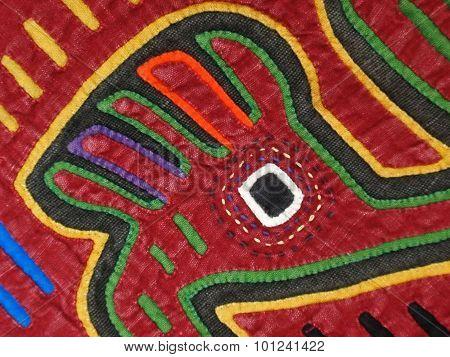 Mola Textile Blouse Panel Quilting Details