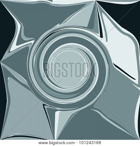 Gray Abstract Wave, Embossed Shadow Eddy, Design Element Background Vector