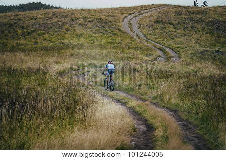 cyclist down mountain