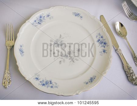 Fine china and silverware
