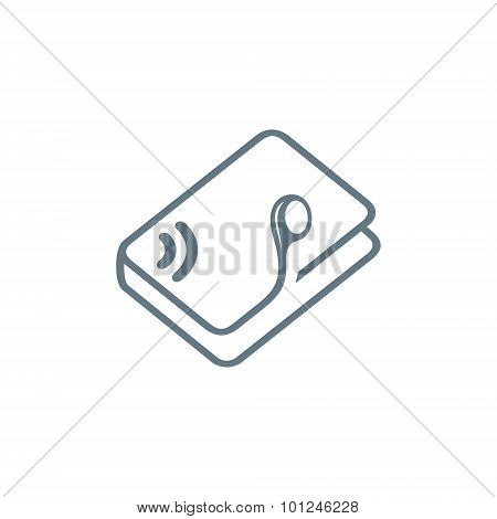 Audio Book Education Vector Sign
