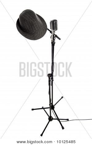 Microphone, Stand And Hat