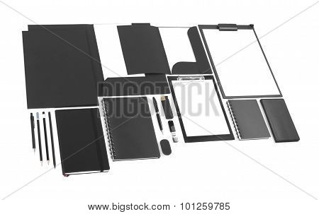 Collection Of Corporate Identity On White Background