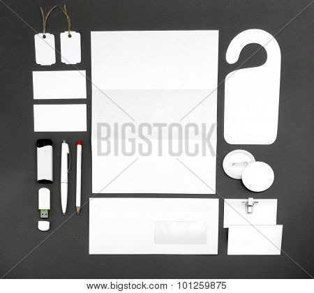 Collection Of Corporate Identity On A Gray Background