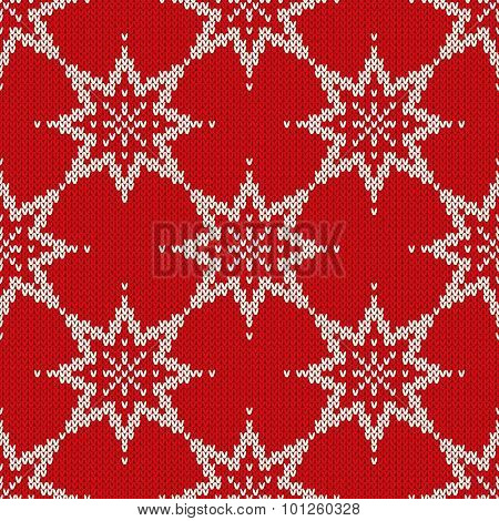 Hristmas Sweater Design. Seamless Pattern With Stars