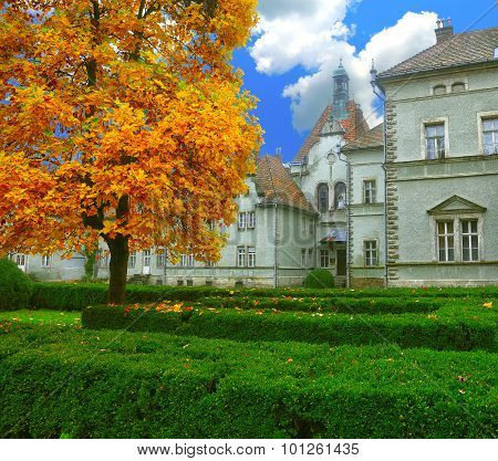 Ancient Castle In Autumn