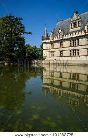 Azay-le-rideau Castle,  Castles Of The Loire, France