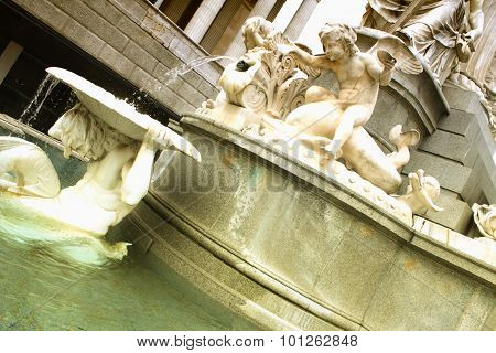 Vienna Parliament, One Detail On Fountain