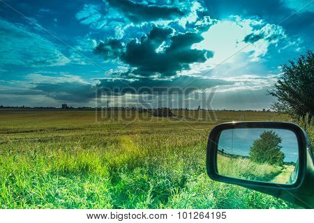 Fields And Meadows During Harvest