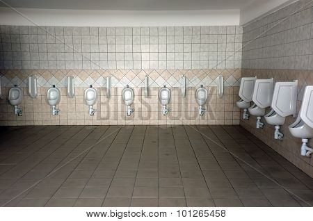 Public toilet and with urinals