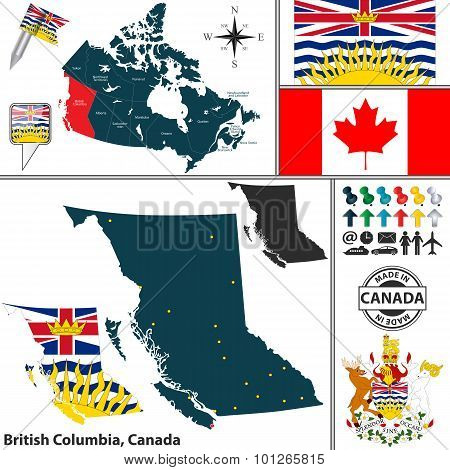 Map Of British Columbia, Canada