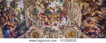 Ceiling Fresco In Palazzo Barberini, Rome, Italy