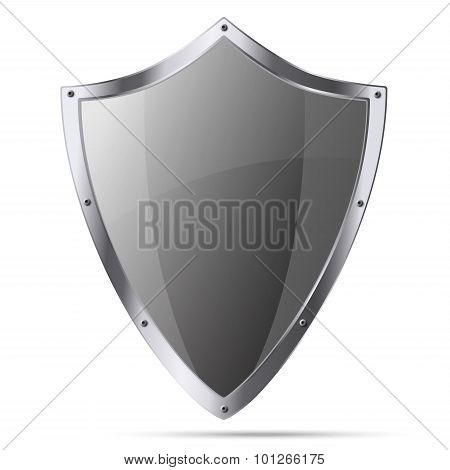 Medieval Knight Shield Isolated On White Background