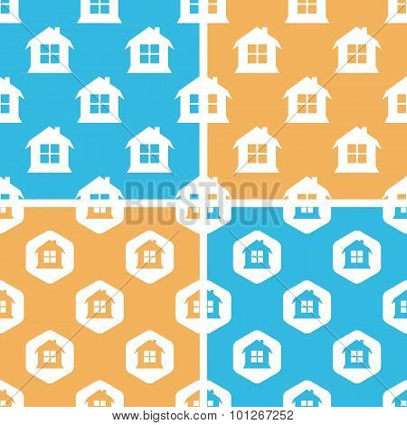 House pattern set, colored