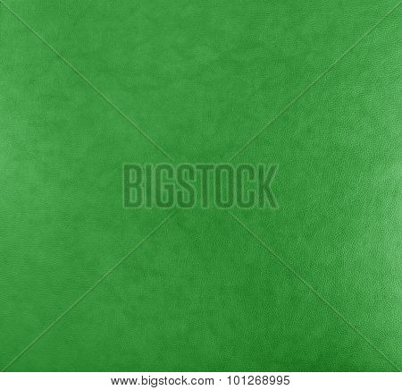 Green Leather Texture Background Surface.