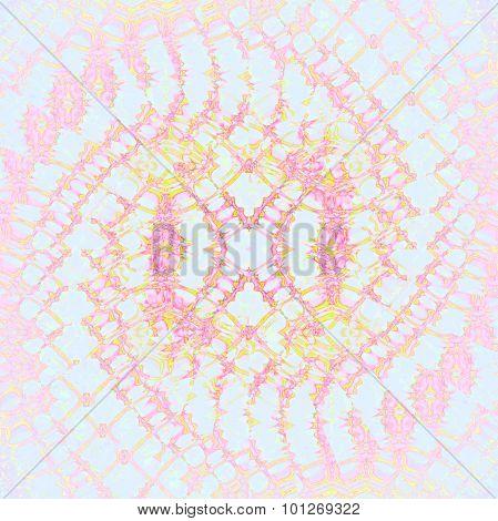 Seamless spiral pattern blue pink